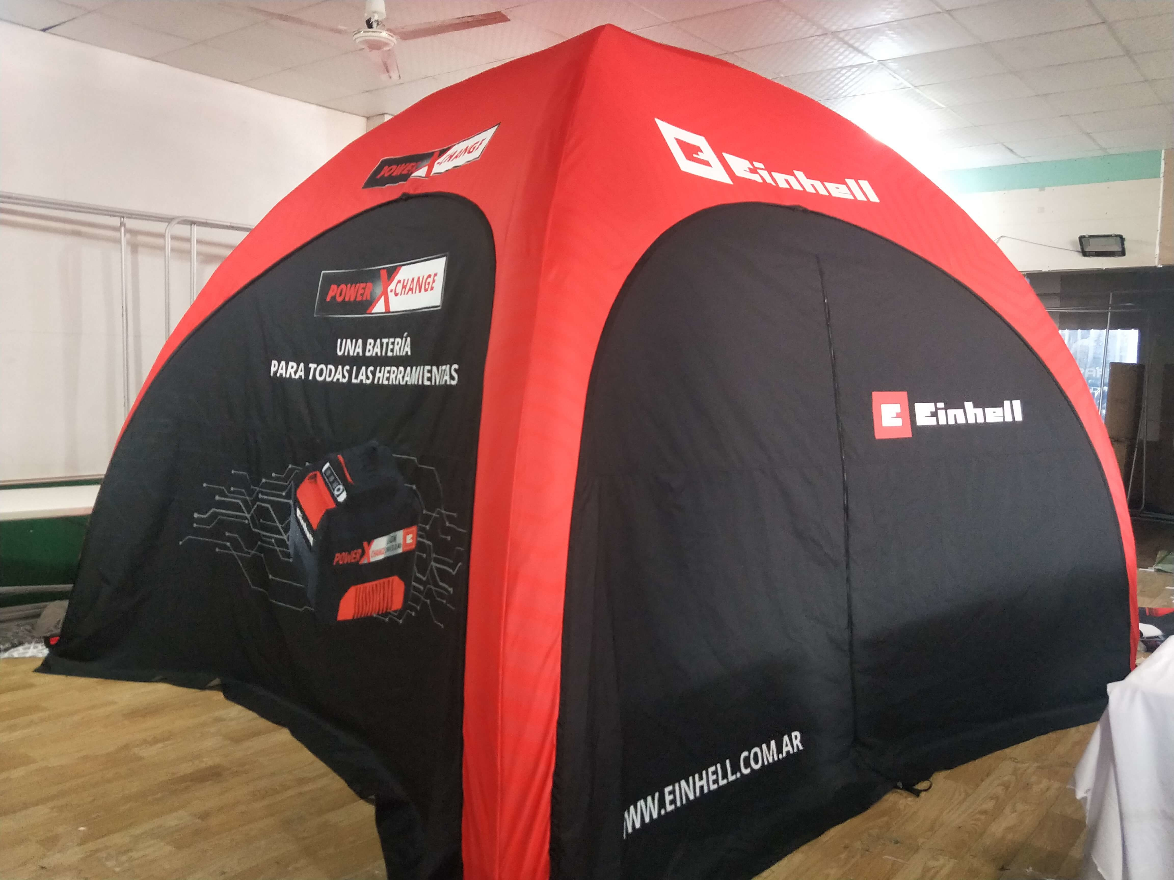 company cases about TLF Sealed inflatable tent for Einhell