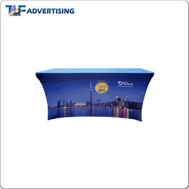 Stretch Trade Show Tablecloth , Vendor Booth Table Cloths Spandex Elastic With Back Zipper supplier