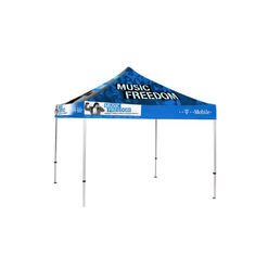 Folding Trade Show Canopy Tent Dyes UV Protected Two Half Wall Sides supplier
