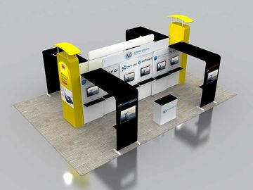 6X6 M Trade Show Exhibits Displays Eco Friendly Grafics Wrinkle Free Easy Assemble supplier