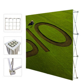 Portable Trade Show Backdrop Stand Various Shapes Detachable Frame 250g Fabric supplier