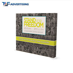 Custom Printed Trade Show Backdrop Displays , Portable Exhibition Displays Flame Resistant supplier
