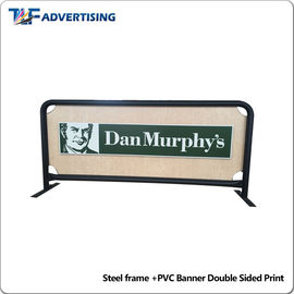 2m Coffee Shop Barriers Digital Printing PVC Square Tube Double Pipe Foot supplier