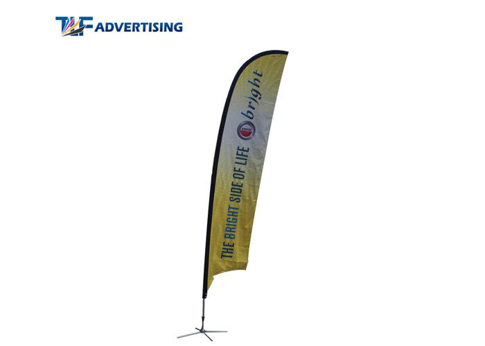 China 12Ft Custom Flag Banners 100% Fiberglass Pole Popular Flying Style Elastic Sleeve factory