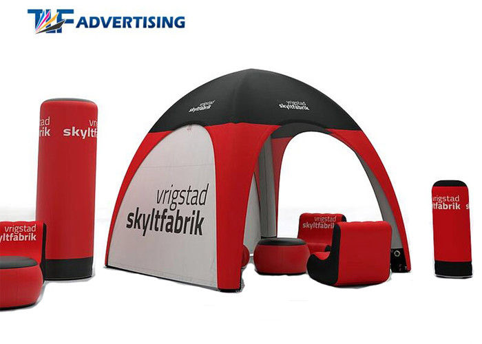 Small Inflatable Advertising Tent , Inflatable Tailgate Tent Commercial Grade Sewing Style