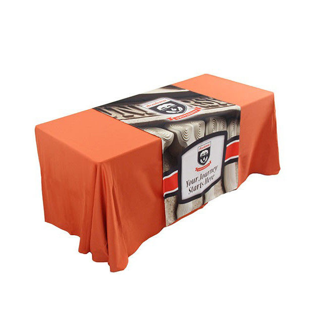 Rectangle Tablecloths For Trade Show Booths Full Color Printing Non Fade Ink