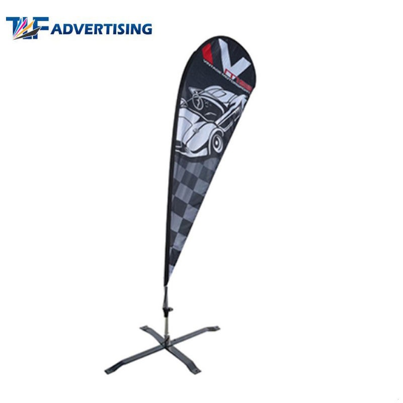 China Feather Advertising Sail Signs , Teardrop Advertising Banners Robust Pole Weather Resistant factory