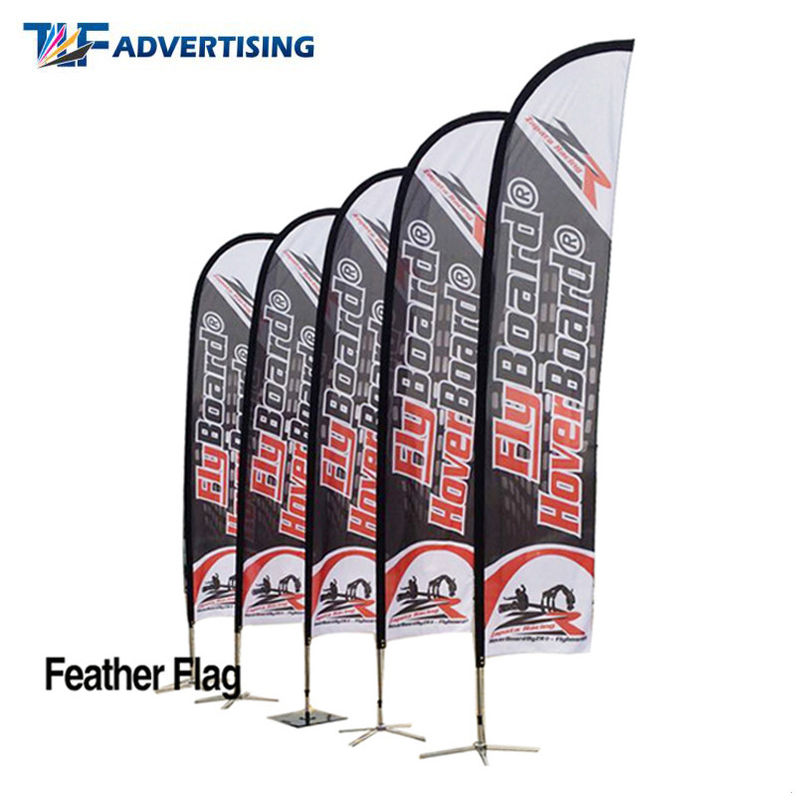 China 16ft Flag Advertising Banners Large Swooper Anti Corrosion Vertical High Precison factory