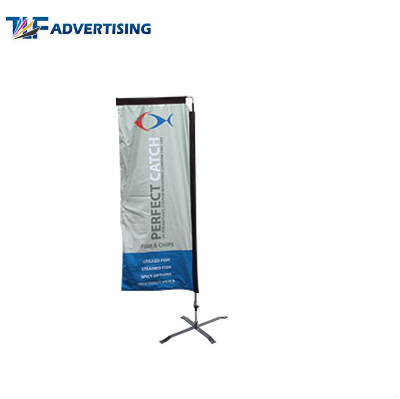 China Attractive Racing Custom Advertising Banners 7 Foot Wind Resistant Colorful Portable factory