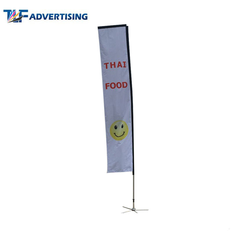China Large Square Advertising Banners And Flags 14ft 4.2m Digital Printing Washable factory