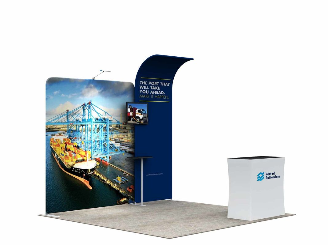 China 3*3M Modular Convention Booth Displays Easy Assemble Straight Flat Advertising Usage factory