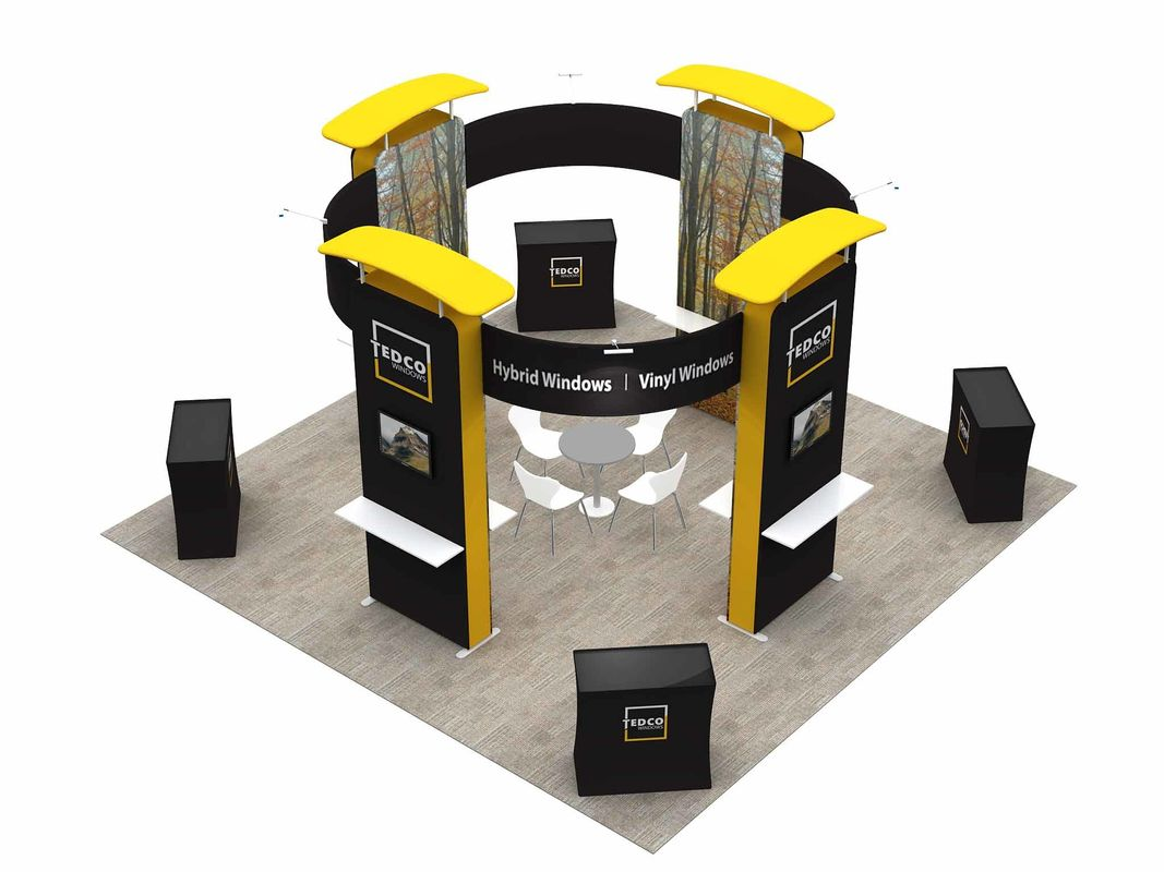 China 6X6 M Trade Show Exhibits Displays Eco Friendly Grafics Wrinkle Free Easy Assemble factory