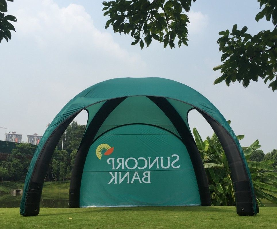 Zipper Tarpaulin Inflatable Advertising Tent 0.3mm TPU Structure Pvc Storage Bag Outside
