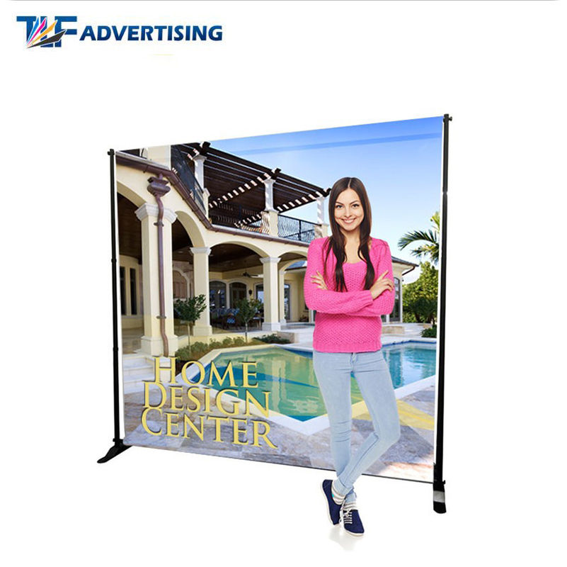 10x8 Ft Stand Trade Show Booth Backdrop Telescopic Adjustable Flat Straight