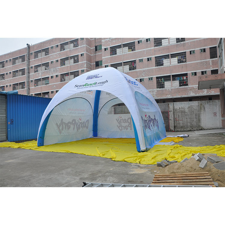 Durable Inflatable Advertising Tent PVC Fabric Flame Retardant Anti UV Custom Logo Printed