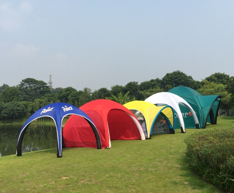 Attractive Inflatable Advertising Tent Easy Assemble Fire Retardant Light Weight