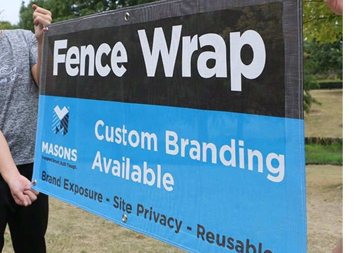 Full Color Fence Mesh Banners Large Format Dye Sublimation Printing Flame Retardant