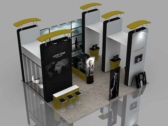 6X6 M Trade Show Exhibits Displays Eco Friendly Grafics Wrinkle Free Easy Assemble